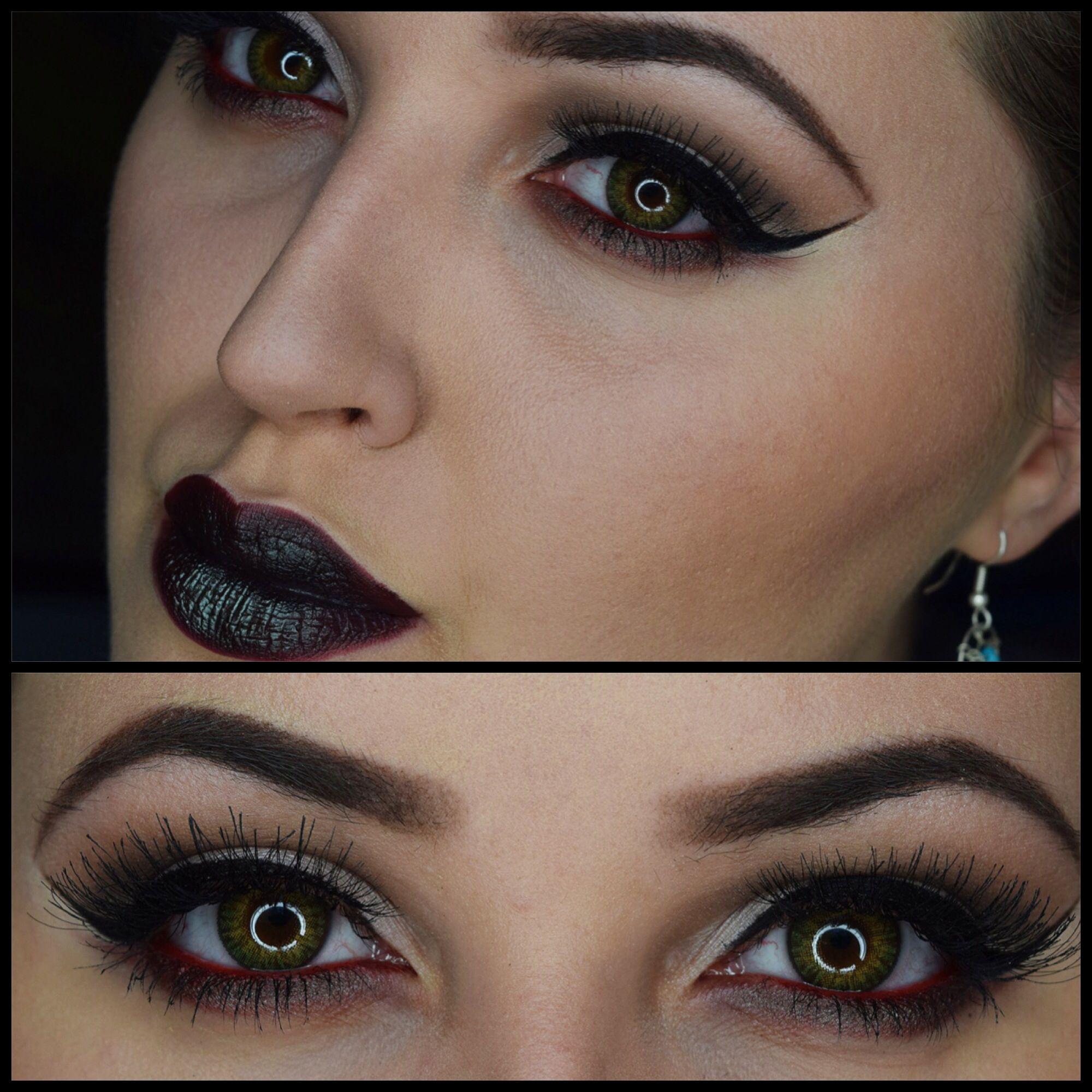 Alternative 'goth' makeup. Inglot. Glamourdolleyes. 100