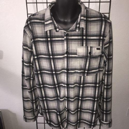 a6a64fa5c2 Billabong Adventure Division XL Light Gray Furnace Flannel Shirt Jacket Men  XL