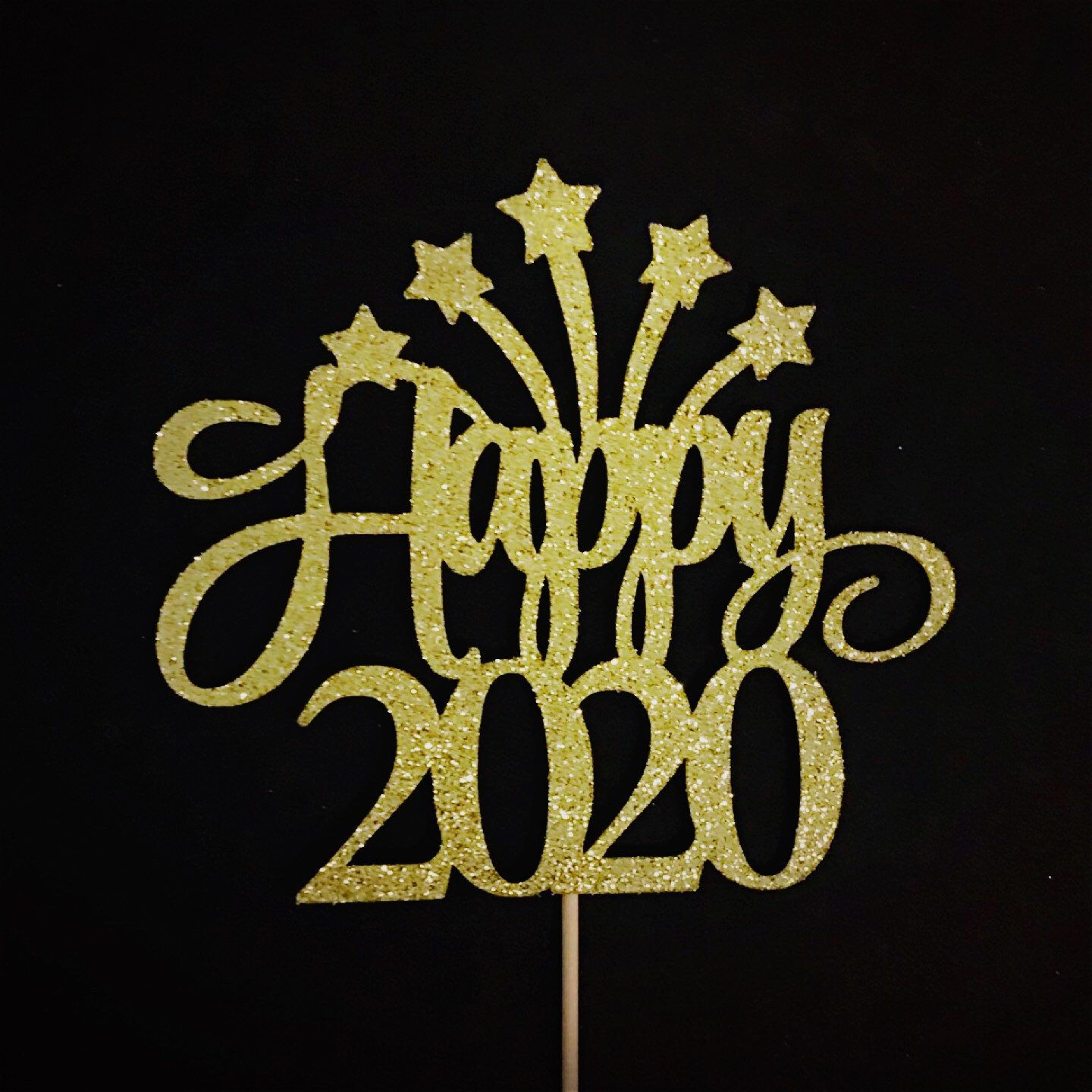 Happy 2020 Cake Topper, New Year Party Cake Topper, New