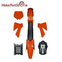 New Orange Ktm 50 Sx 50cc 50sx Plastics Cover Kit With Fuel Tank Black Seat Ktm50 Senior Junior Jr Sr 50cc Ktm Black