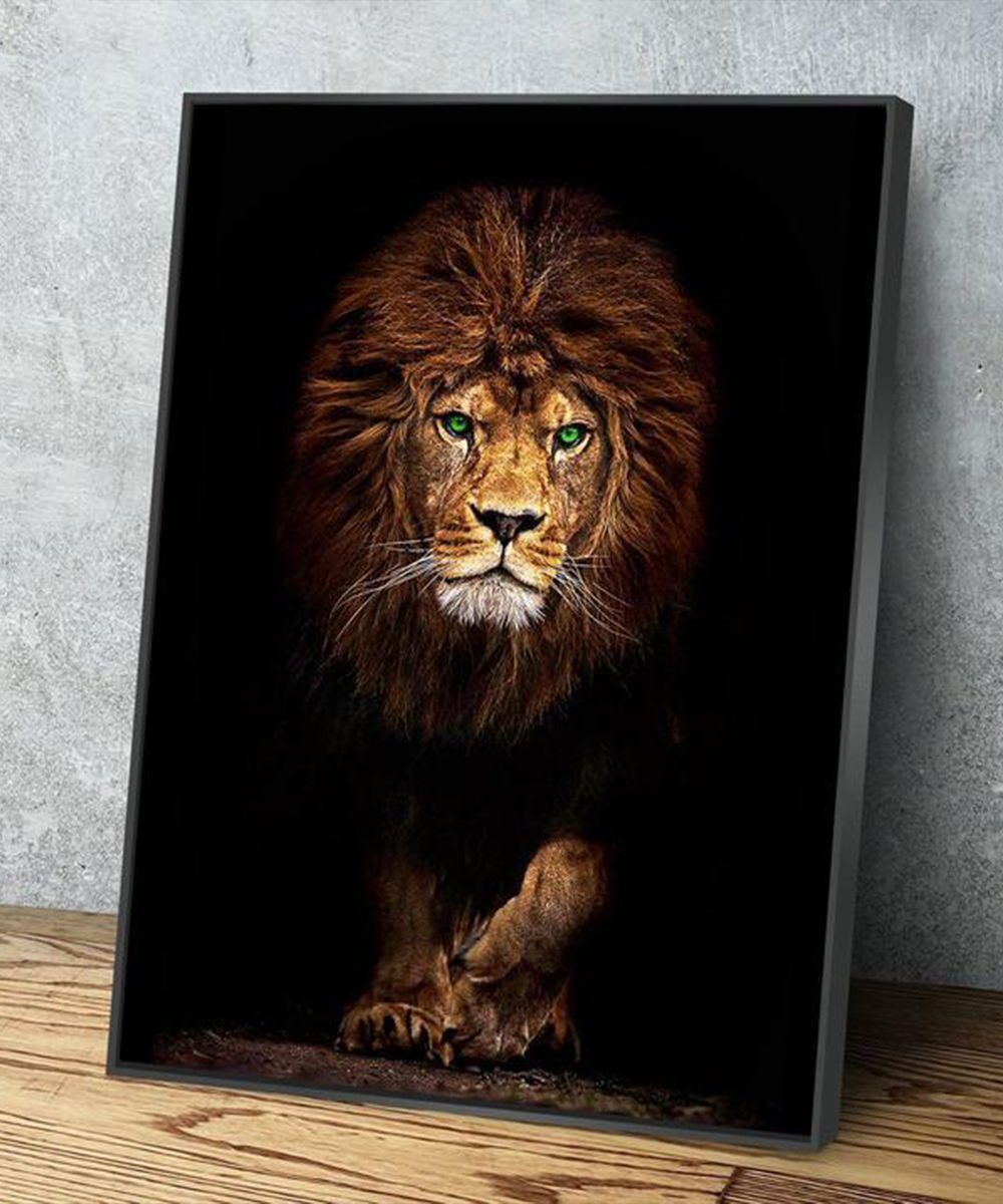 The Beast Lion Canvas Painting Lion Painting Lion Art