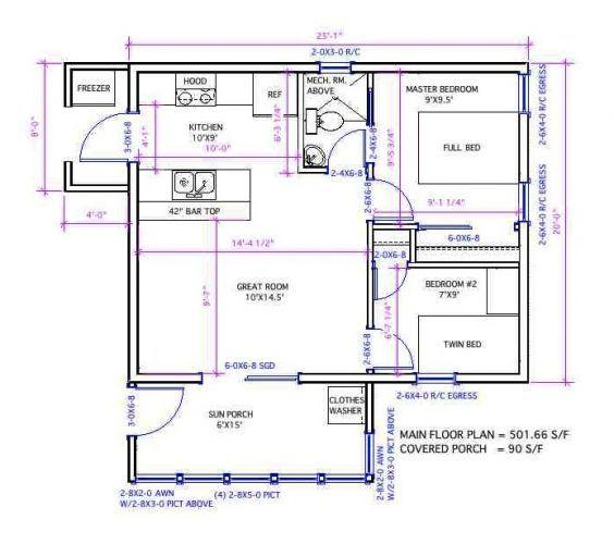 Korean Kabin 500-1 - Zero-Energy Home Plans | Sustainability ...