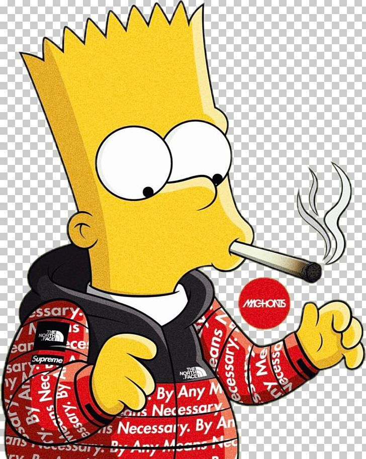Bart Simpson Homer Simpson Supreme Graphic Designer PNG - Free Download