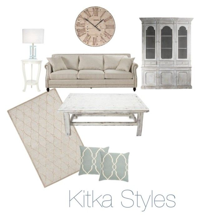 """Moms shabby chic living room"" by akitkas on Polyvore"