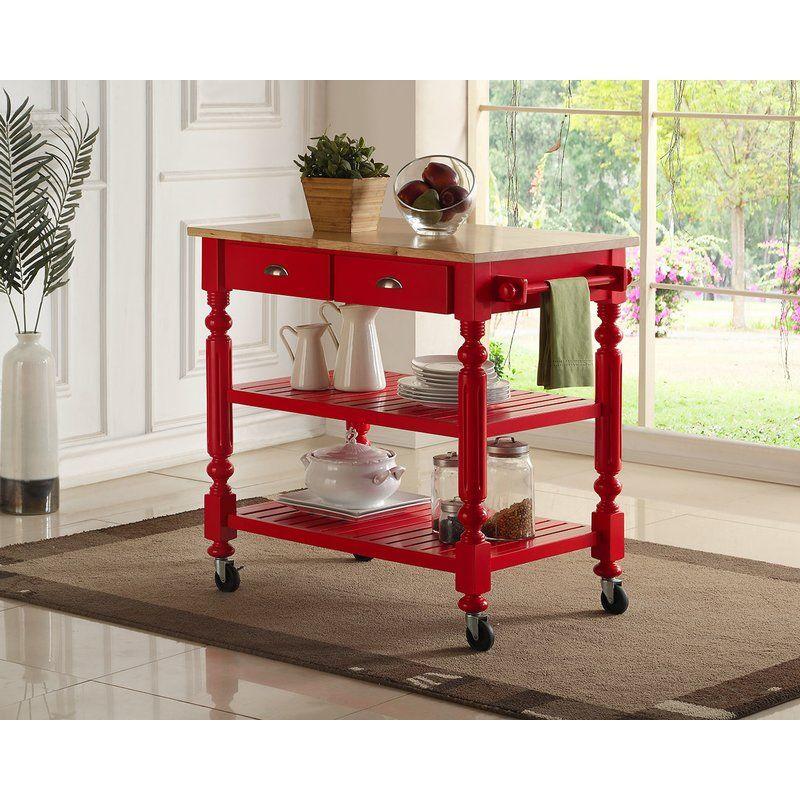 Crigger Kitchen Cart Kitchen Cart Red Kitchen Cart Furniture