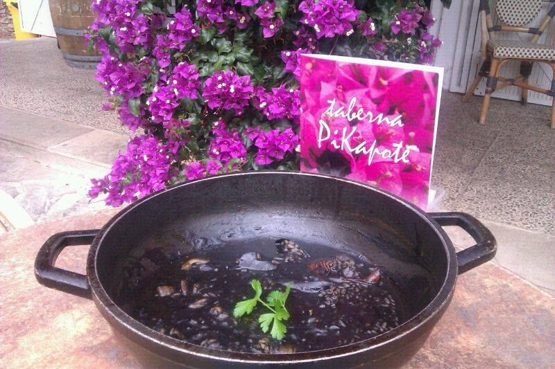 Arroz negro meloso de la Taberna Pikapote. Jornadas gastronómicas de la Serra d'Irta