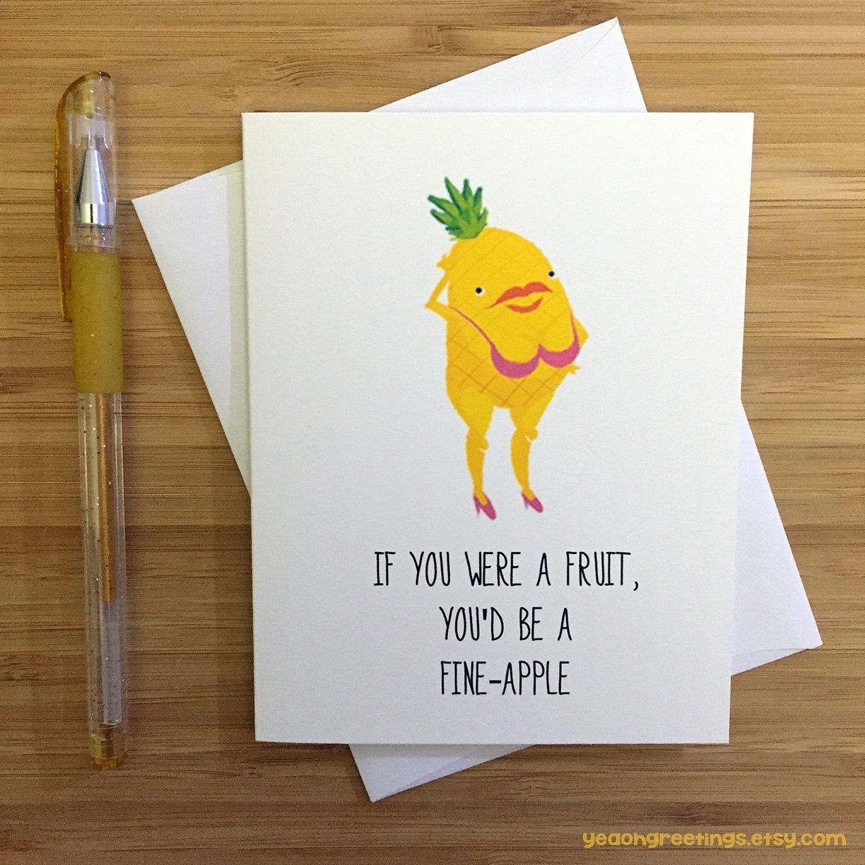 Funny Pun Card Love Card Funny Greeting Card Love Greeting Card