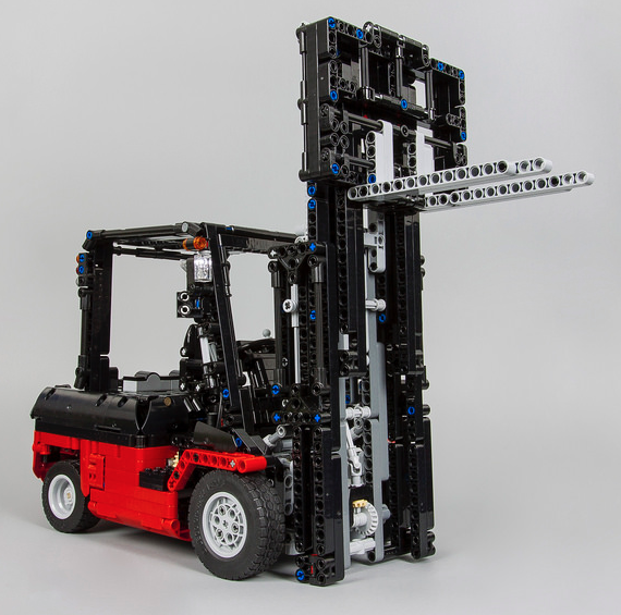 lego technic rc forklift lego fabis super funde lego. Black Bedroom Furniture Sets. Home Design Ideas