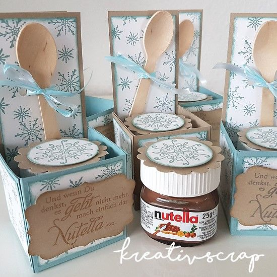 kreativ scrap mini nutella stampin 39 up verpackung kreativscrap pinterest nutella. Black Bedroom Furniture Sets. Home Design Ideas