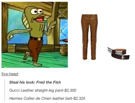gucci x spongebob. fred the fish gucci x spongebob