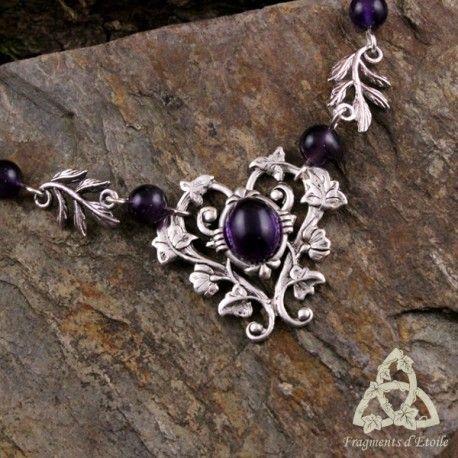 creation bijou fantaisie gothic collier sur chaine pendentif volutes celtiques