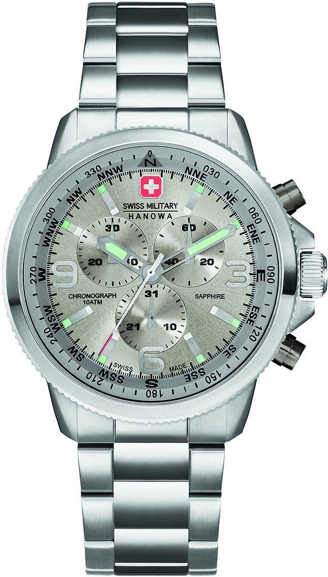f2d86e98761 Swiss Military Hanowa Horloge 'Arrow' Chrono Steel 06-5250.04.009 | Swiss  Military Hanowa Horloges - Chronograph, Watches en Military