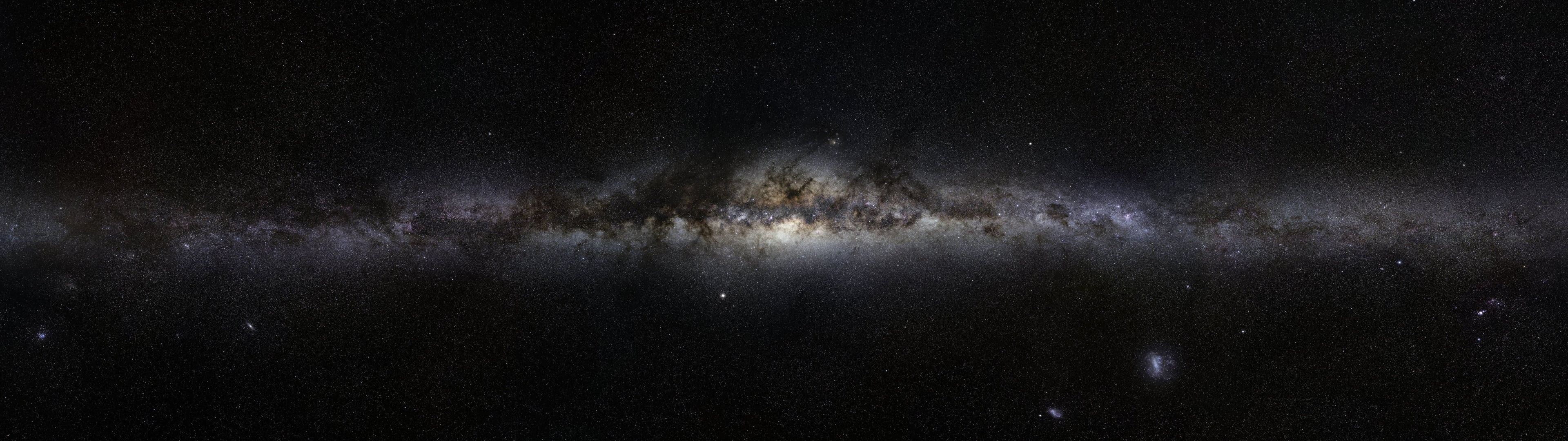 Outer Space Galaxies Milky Way 3840x1080 Space Galaxies Hd Art Galaxies Outer Space 4k Wallpaper Hdwallpaper D Dual Screen Wallpaper Galaxy Hd Milky Way