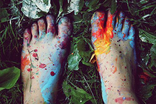 painted feet