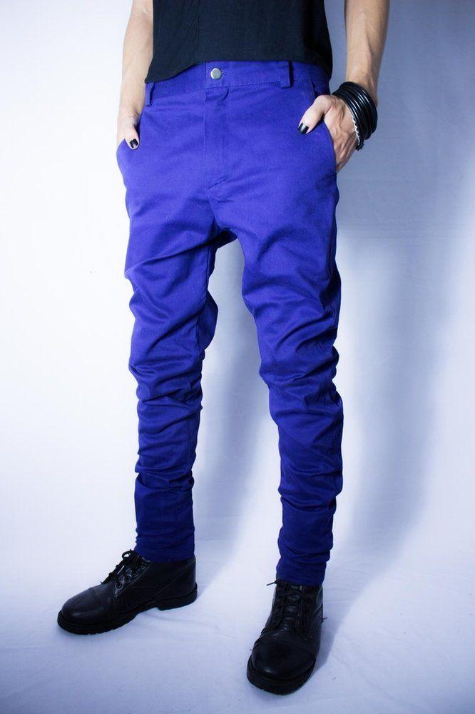 Distopia Collection - Calça skinny azul escuro - Moda masculina e sustentável, para homens com estilo alternativo