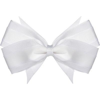 White Hair Bow Halloween Costume white