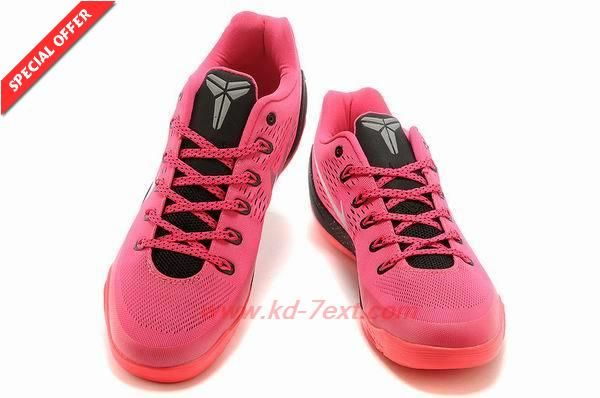 Womens Nike Kobe 9 Low Nine Red   Black 653972-121