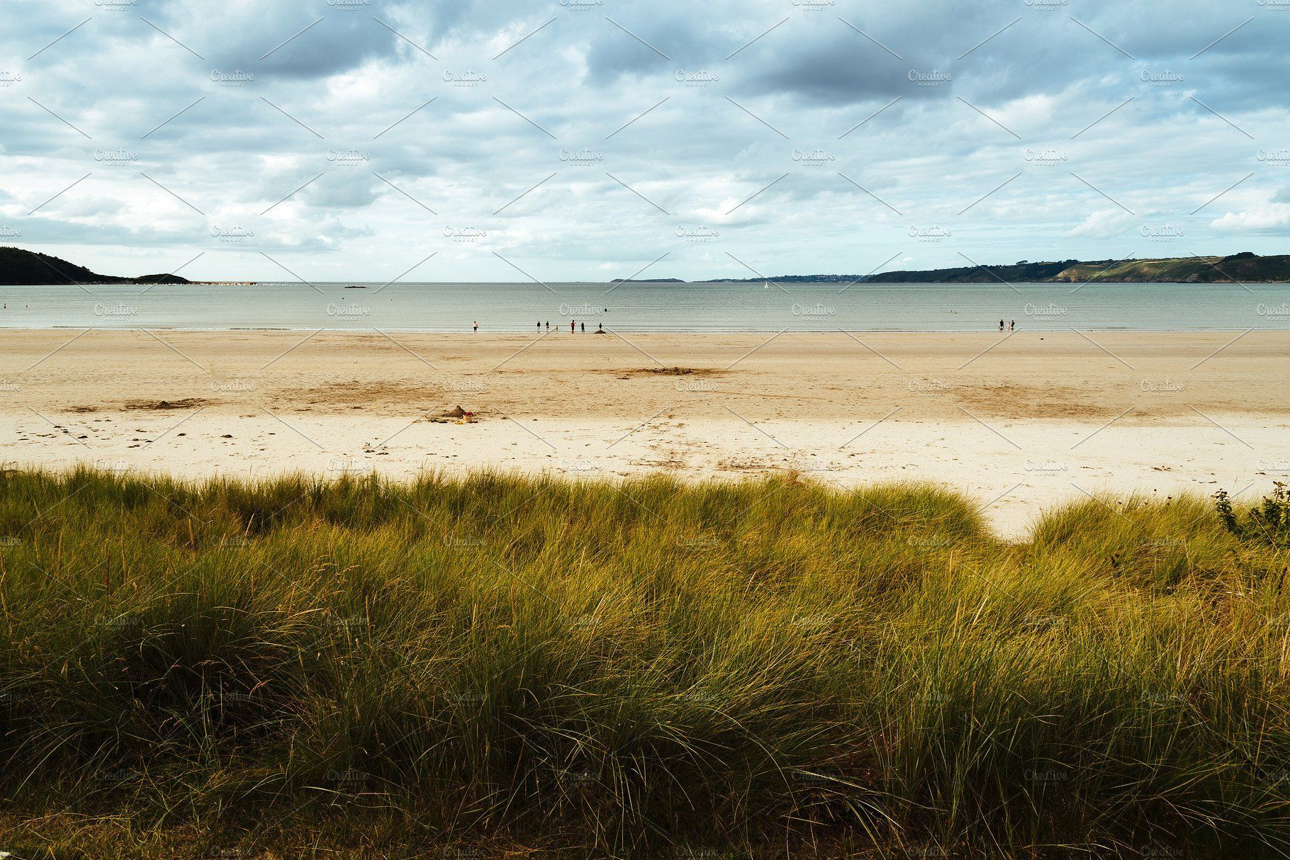 Tranquil Beach Against Cloudy Sky In Landscape Scenery Landscape Photography Cloudy