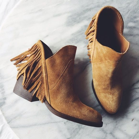 Zara Suede Fringe Ankle Boots NWT   Zara shoes