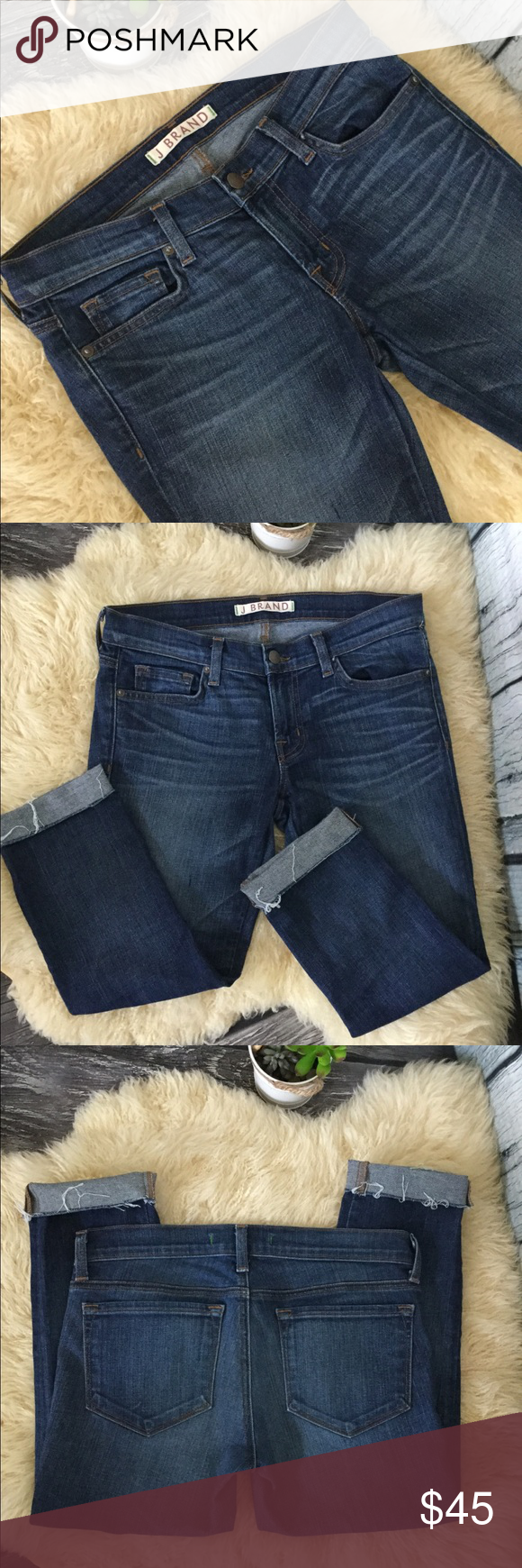 "J brand ""Phoebe"" Crop Jeans Size 27 In excellent condition"