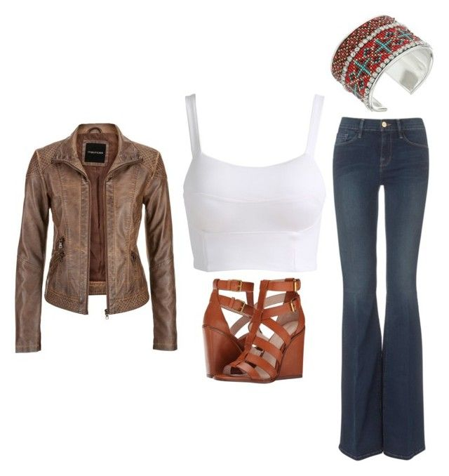 """Outfit Idea by Polyvore Remix"" by polyvore-remix ❤ liked on Polyvore featuring M&F Western, Pour La Victoire, Frame Denim and maurices"