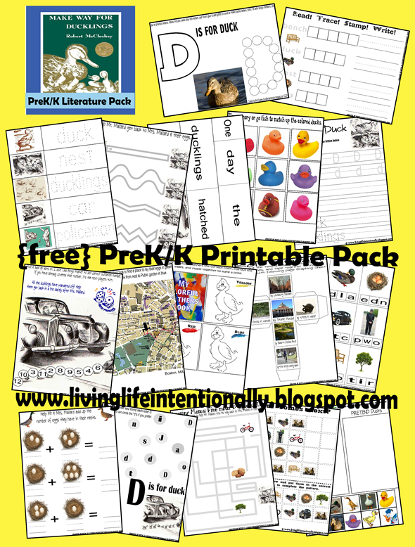 Free Make Way For Ducklings Literature Printables Free Homeschool