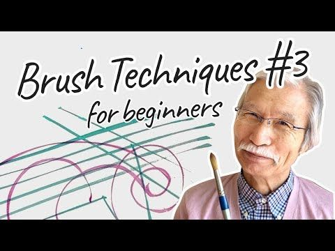 Eng Sub Brush Techniques For Beginners 3 Watercolor Painting