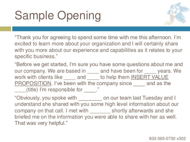 Sample Opening Thank You For Agreeing Spend Some Time Available