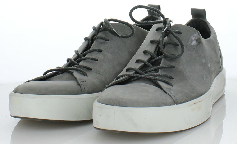 heta nya produkter Toppkvalité hela samlingen 4745 NEW Ecco Soft 8 Grey Suede Lace Up Sneaker Men's Sz 46 M ...