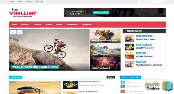 Viewer Responsive Blogger Template | Web graphics theme wp