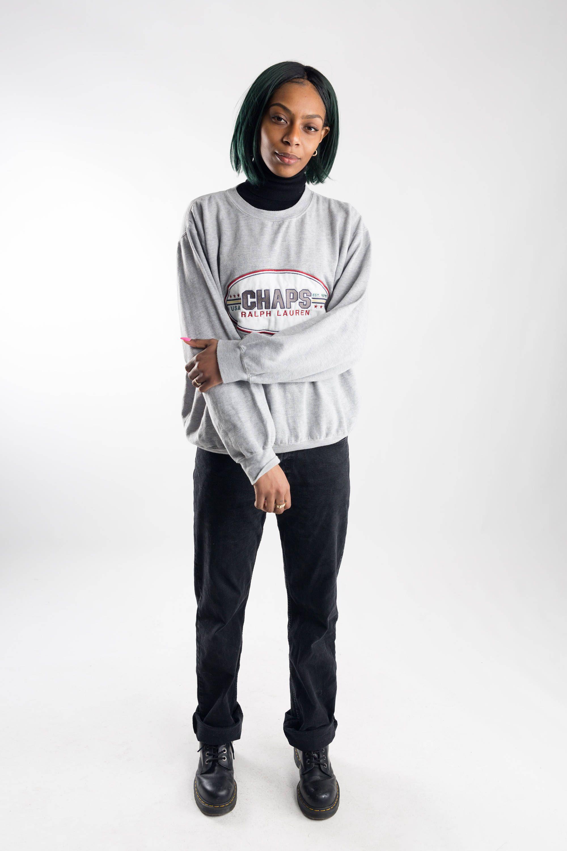 01078d75a982 ... czech gray ralph lauren sweatshirt oversized 90s ralph lauren sweater  mens retro activewear sweater 51409 d6331