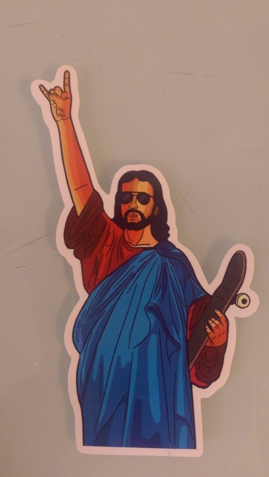 Jesus Rock Peace Love Sticker Skateboard Guitar Bike Car Vinyl Laptop Decal Ebay Graffiti Drawing Skateboard Stickers Skate Art
