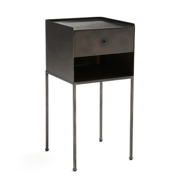 Yazdan Metal Bedside Table Am Pm Bedside Tables Metal Bedside