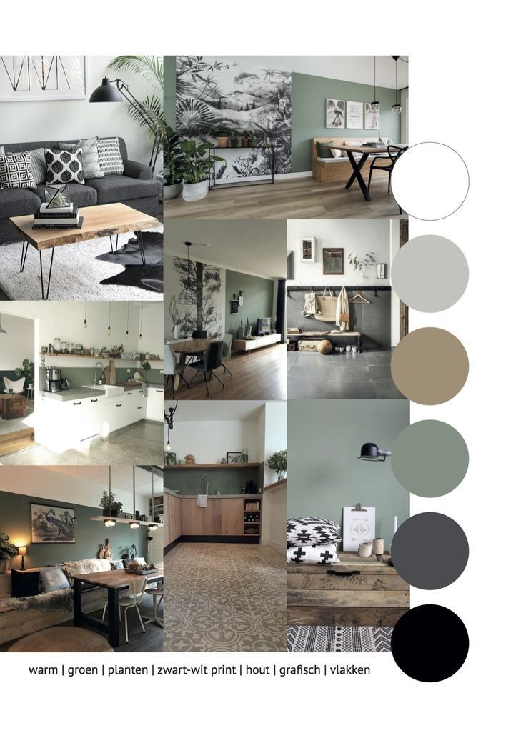 Photo of Moodboard für ein kühles und warmes Design mit natürlichen Elementen. Der Graph … – Wohnaccessoires
