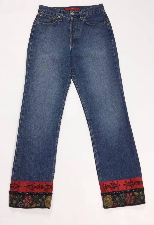 b9df38e1b82ad Dettagli su Met jeans dark donna usato bootcut zampa vita alta hot mom W31  tg 45 blu T4695