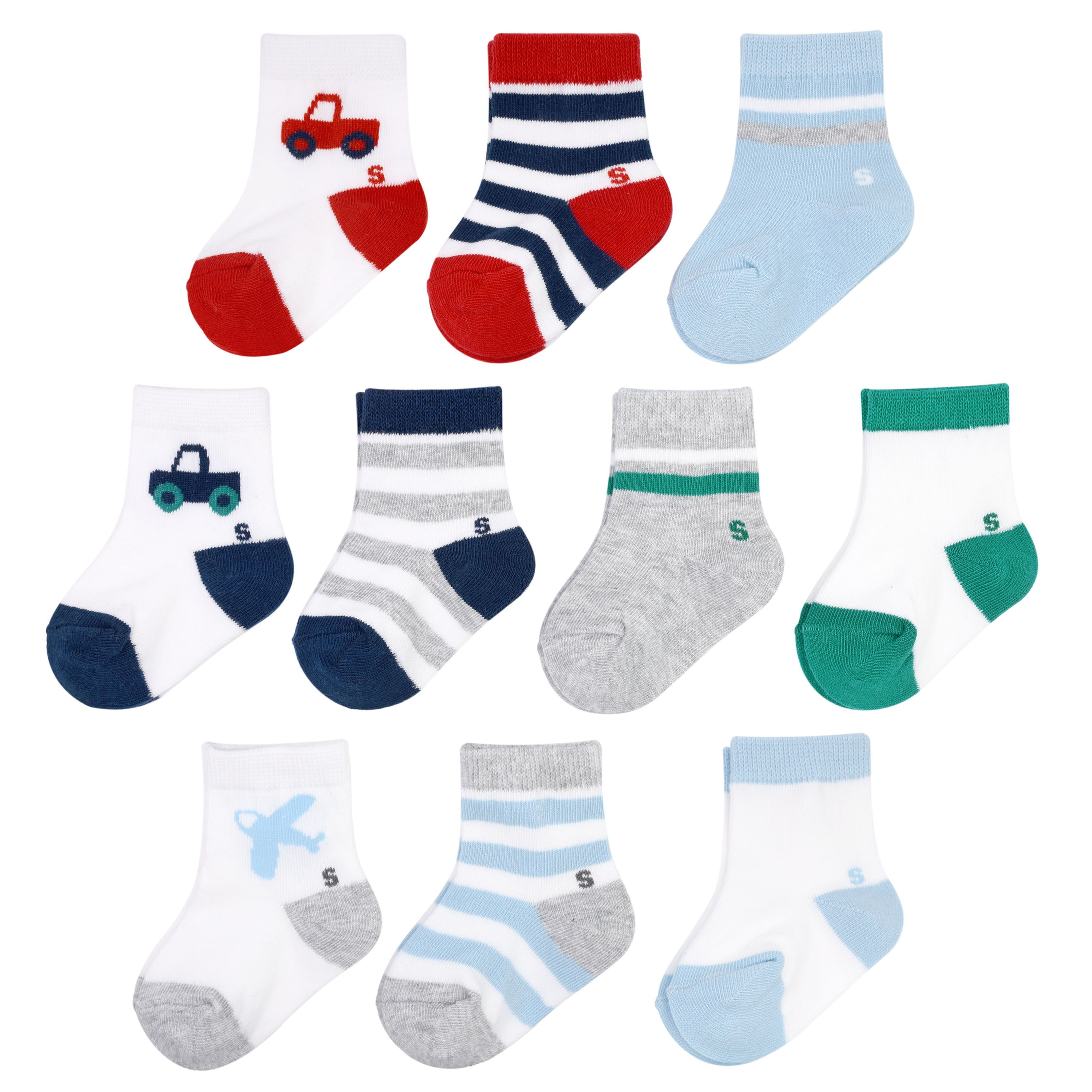 Baby Boy Jumping Beans 10 Pack Crew Socks Available At Kohl S Baby Socks Baby Boy Outfits Socks