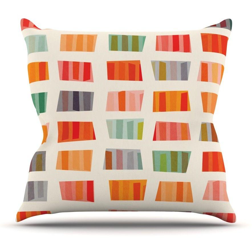Galilea Chevron Cotton Throw Pillow Throw pillows