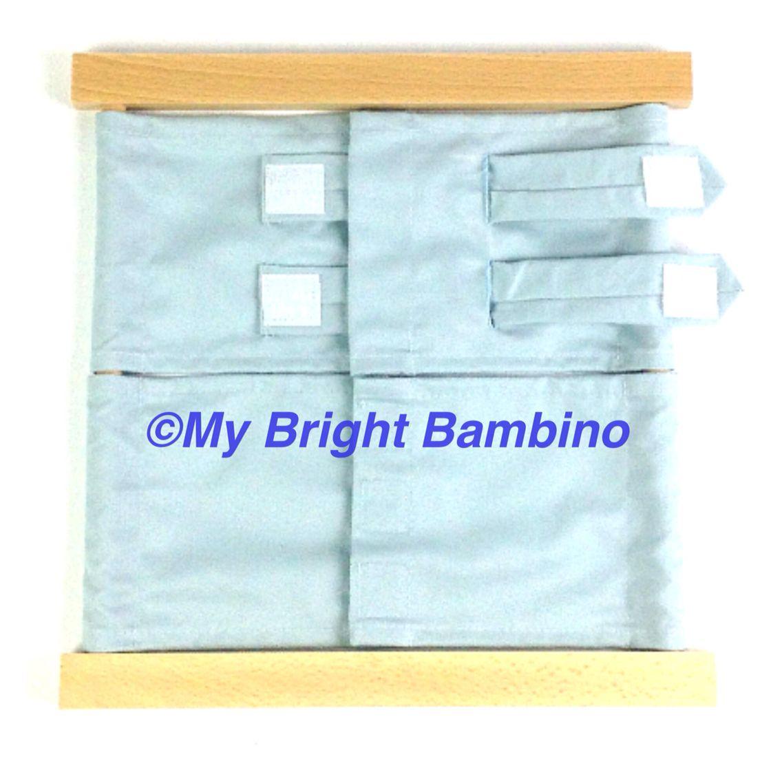 Practical Life Dressing Frame Velcro