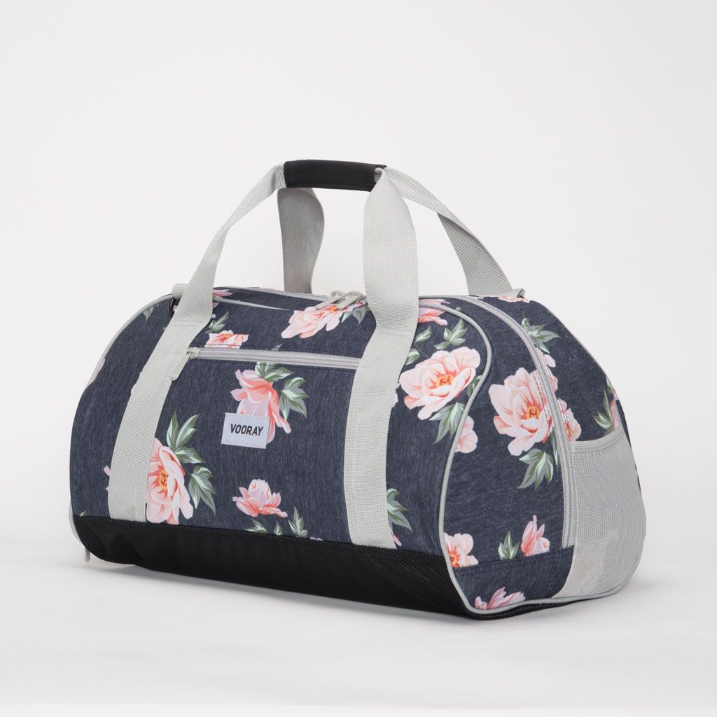 Vooray Burner Gym Duffel-Rose Navy Print Large from Aries Apparel- 75.00 7266b8a9aed2b