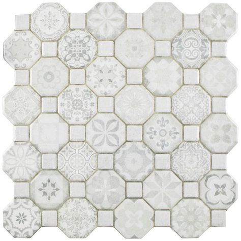 Merola Tile Tessera White 12 1 4 In X 12 1 4 In Ceramic Floor And Wall Tile 14 11 Sq Ft Case Fosteswt The Home Depot Floor And Wall Tile Ceramic Floor Wall Tiles