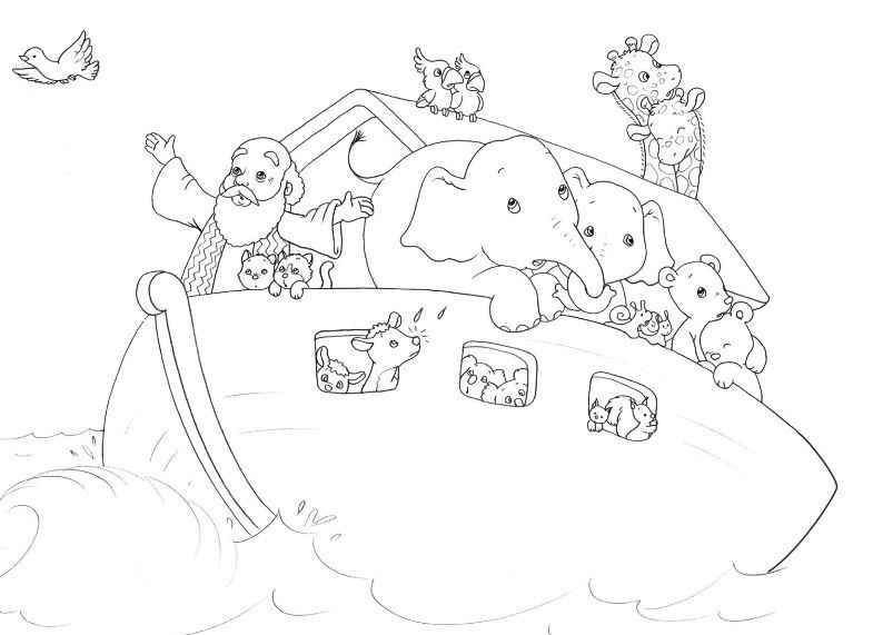 Parshat Noach Coloring Pages
