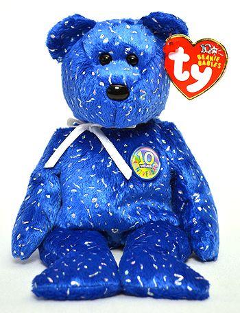6fbb37640657f8 Decade (dark blue) - Bear - Ty Beanie Babies | 80s and 90s | Beanie ...