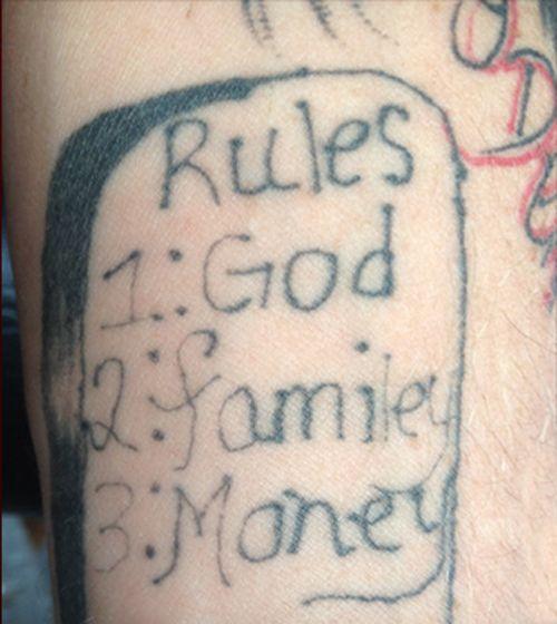 eeb34164f misspelled tattoos family lightning bolt tattoo on forehead, mugshot face  tattoos, Funny Tattoos, Funny Pictures Stupid tattoos, ugliest tattoos,  worst