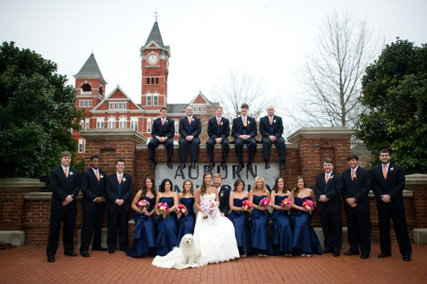 Auburn University Wedding On Samford Lawn