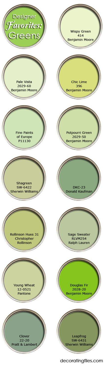 Designers Favorite Paint Colors green paint colors: favorite picks from designers   the decorating