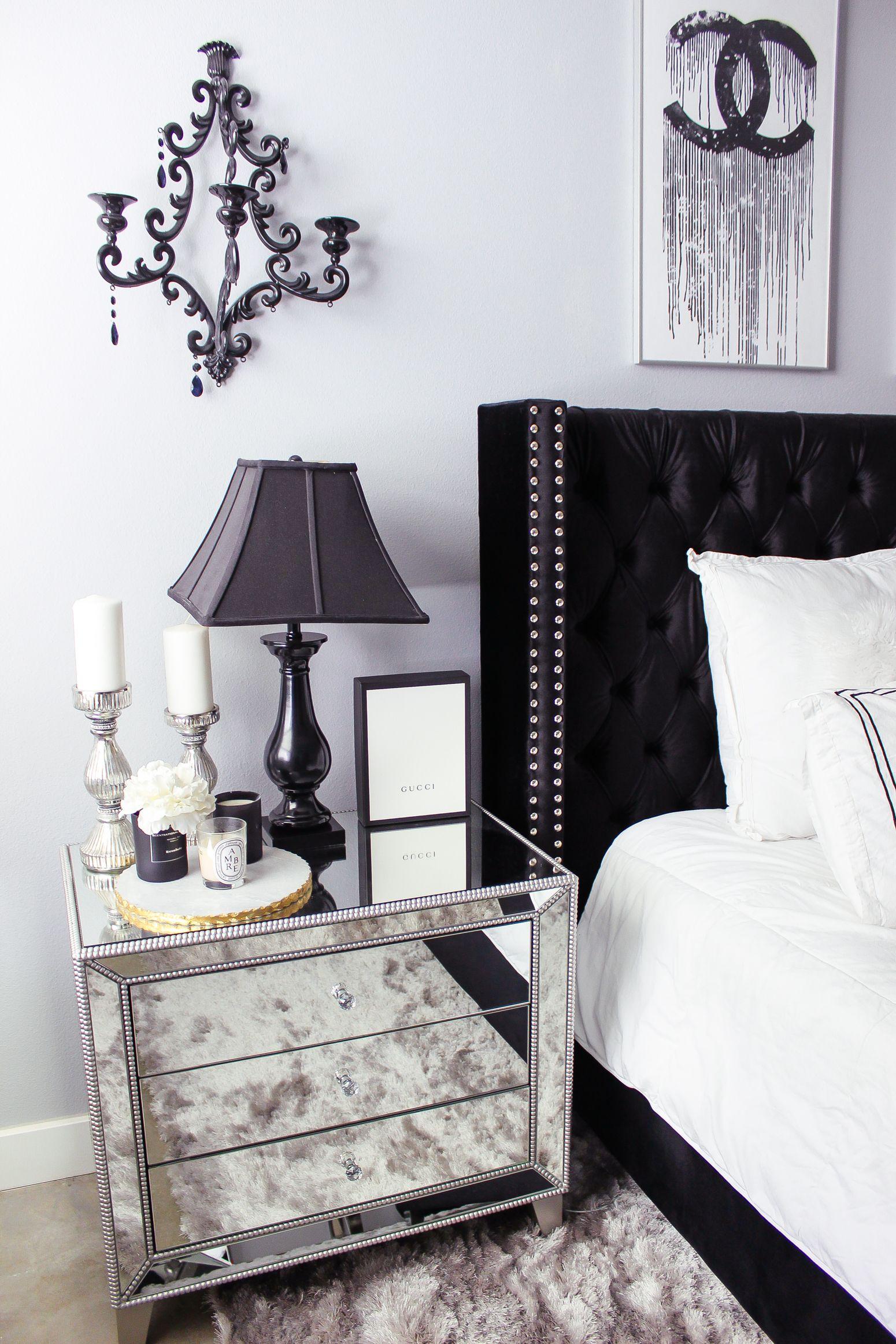 Black White Bedroom Decor Reveal White Bedroom Decor White