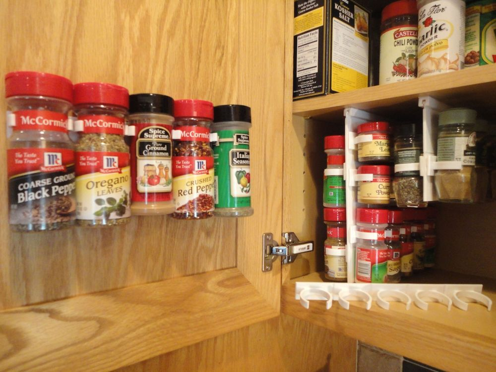 SpiceStor Organizer Rack 20 Cabinet Door Spice Clips FREE Shipping