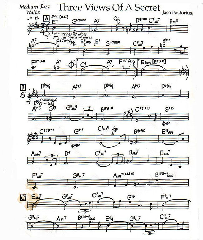 Lead Sheet for