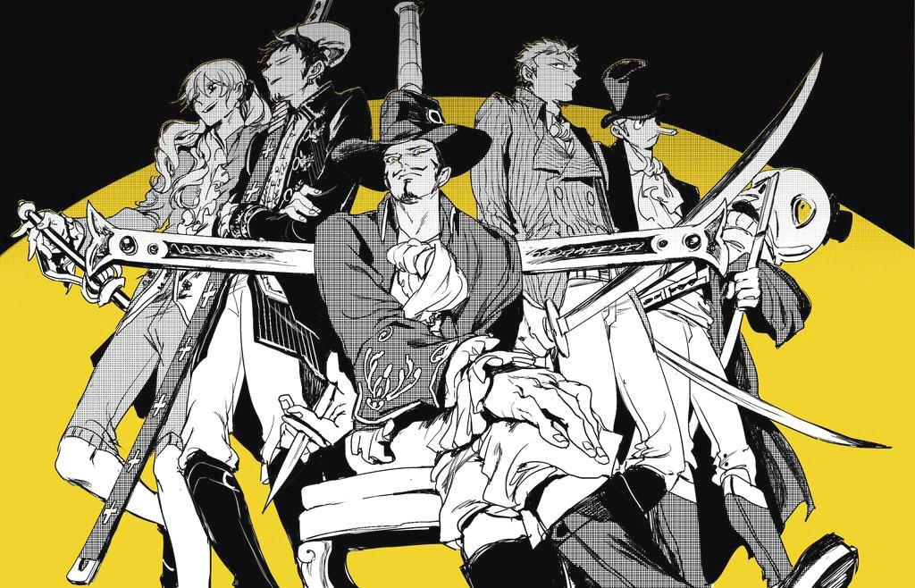 One Piece Cavendish, Trafalgar Law, Dracule Mihawk