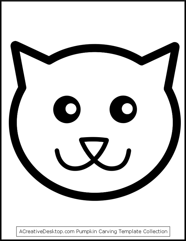 Cat Face Template Solan Annafora Co